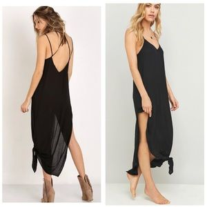 Free People Tie Up Knotted Slip Dress